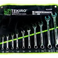 Tekiro Kunci Ring Pas Set 11 pcs (8 - 24 mm)
