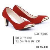 High Heels Red Garzee Premium - Sepatu Pesta dan Kerja Pantofel Merah