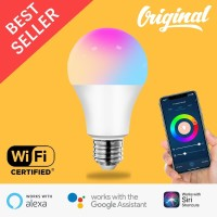 Smart LED Light Bulb RGBWW 9W Wifi Wireless IoT Home Automation Asiste