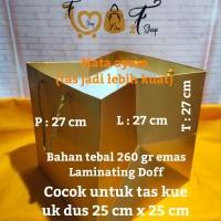 Paper Bag Emas Tebal ( P x L x T : 27 x 27 x 27 cm )