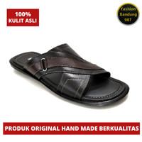 Sandal Pria Ukuran Besar Original Kulit Asli Sandal Flat pria Big size