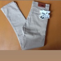 Termurah celana panjang Chino pria slimfit/pensil/size 27-32 - Cream Mocca, 27