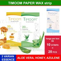 TIMOOM HAIR REMOVAL STRIP / PAPER WAX - ISI 10 DOUBLE STRIP - 20 PCS
