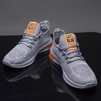 Marelow - Sepatu Sneakers Pria Casual Import - SNK7048 - Abu-abu, 44