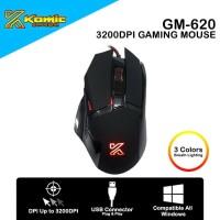 Mouse Gaming Komic GM-620 3200DPI Macro Programmable