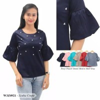 Sale Blouse Navy pearl