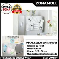 Taplak Sarung Kulkas Waterproof Cover Dengan Kantong Storage Pouch
