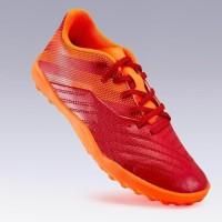 Kipsta Sepatu Anak Futsal Sintetis Agility 140 Hg Lace Burgundy Red