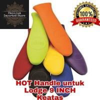 HOT handle sillicone sillicon Lodge cast iron skillet large ORI - Hitam