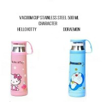 Termos Karakter + Tutup Gelas / Botol Minum Stainless 500ml - Doraemon