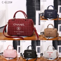 Chanel Deauville Canvas Handbag C-6120
