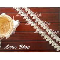 Renda Hias Hantaran Pernikahan Hamper 3 Gelombang Krem Cream