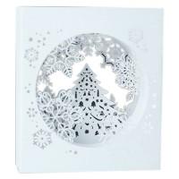 Kartu Ucapan Natal Pop Up 3D Desain Snowflake