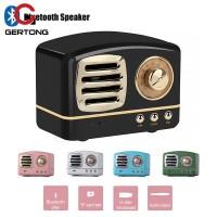 Speaker Wireless Bluetooth Mini Retro Bass 3D Sound Streo+Port TF