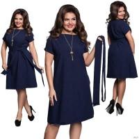 Women Loose Clothing O-Neck Chiffon Bodycon Dress Plus Size