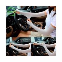 Sarung Tangan Lengan Panjang Tipis Anti UV Bahan Ice Silk untuk Pria W