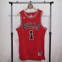 Jersey Basket Swingman NBA Chicago Bulls Derrick Rose red merah