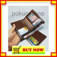 TV627 Bifold wallet chestnut premium leather - dompet kulit pria premi