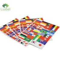 5/10pcs Stiker Motif Bendera 32 Negara World Cup Untuk Wajah/Laptop