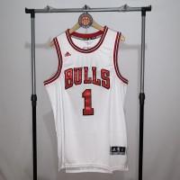 Jersey Basket Swingman NBA Chicago Bulls Derrick Rose putih white
