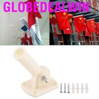30mm Dia Adjustable Plastic Wall Mounting Flag Pole Holder Flagpole