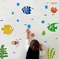 IE Stiker Dinding Decal Desain Ikan untuk Kamar Anak