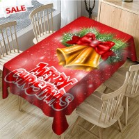 Christmas Digital Printing Rectangular Waterproof Tablecloth Table