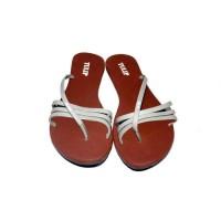 sendal jepit teplek cewek woman flat sandal flip flop variasi fse
