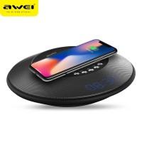 Awei 2 in 1 Speaker Bluetooth Qi Wireless Charger Dock - Y290 - Black