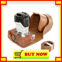 OX526 Leather Case For Fujifilm X-A3 - Coklat Brown