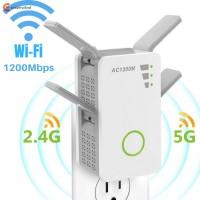 Repeater Penguat Sinyal Wifi Wireless Dual Band 1200Mbps untuk Rumah