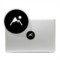Tokomonster Decal Sticker mountains icon Macbook Pro & Air tools