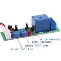 On/Off DC Delay Switch Cycle Adjustable Relay Timer Module 24V 5V
