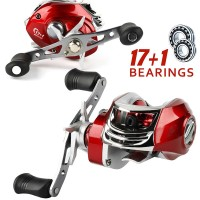 ---- Baitcasting Fishing Reel Alat Pancing ---- 17+1 BB 7.2:1 Gear