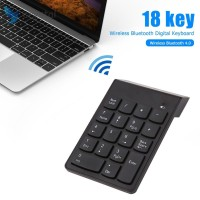 PC Cr-cr-n ♛ Keyboard Numerik 18 Tombol Wireless Mini untuk