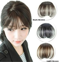 (PROMO) Hair Clip Poni Tip Front Hair Extensions Neat Bang Fringe