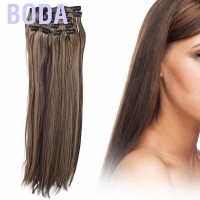 Boda Clip for Hair Extensions 6 Pcs Full Straight Head One Piece 16