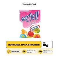 Nutrijell Rasa Stroberi/ Strawberry Sachet 10gr
