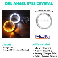 DRL RING ANGEL EYES LED Kristal CRYSTAL BMW 2 warna 60 80 mm Sein PCS