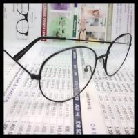 Frame Bulat/Frame Korea Oval Hitam/Kacamata Korea/Kacamata Bulat Hitam