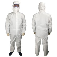 Baju APD Hazmat Suit SF Non-woven Coverall Perlengkapan Medis Safety
