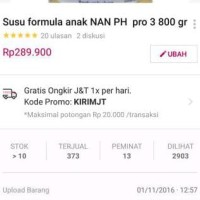 Susu formula anak NAN PH pro 3 800 gr