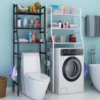 Stand Hanger Gantungan Handuk Tissue Toilet Kamar Mandi Set Rak Sabun