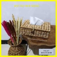 Tissue Box / Tempat Tissu / Anyaman enceng gondok