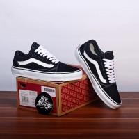 Sepatu Vans Oldskool Classic Black White Hitam Putih Original Premium