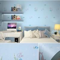 Dekoraktiv Wallpaper Dinding Ikan Aquarium [Wallpaper Sticker PVC]