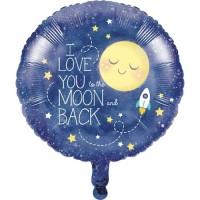 "Balon Foil 18"" To The Moon And Back - Perlengkapan Pesta Ulang Tahun"