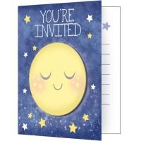 Kartu Undangan Tema To The Moon And Back - Pesta Ulang Tahun