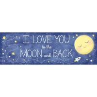 Banner To The Moon And Back - Perlengkapan Pesta Ulang Tahun