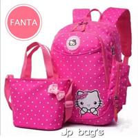 Grosir Tas Ransel Anak Sekolah SD Perempuan Hello Kitty 3in1 Murah 3